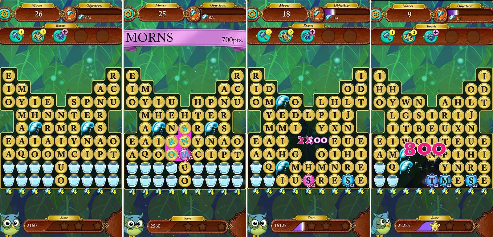screenshots of words of wonder game board