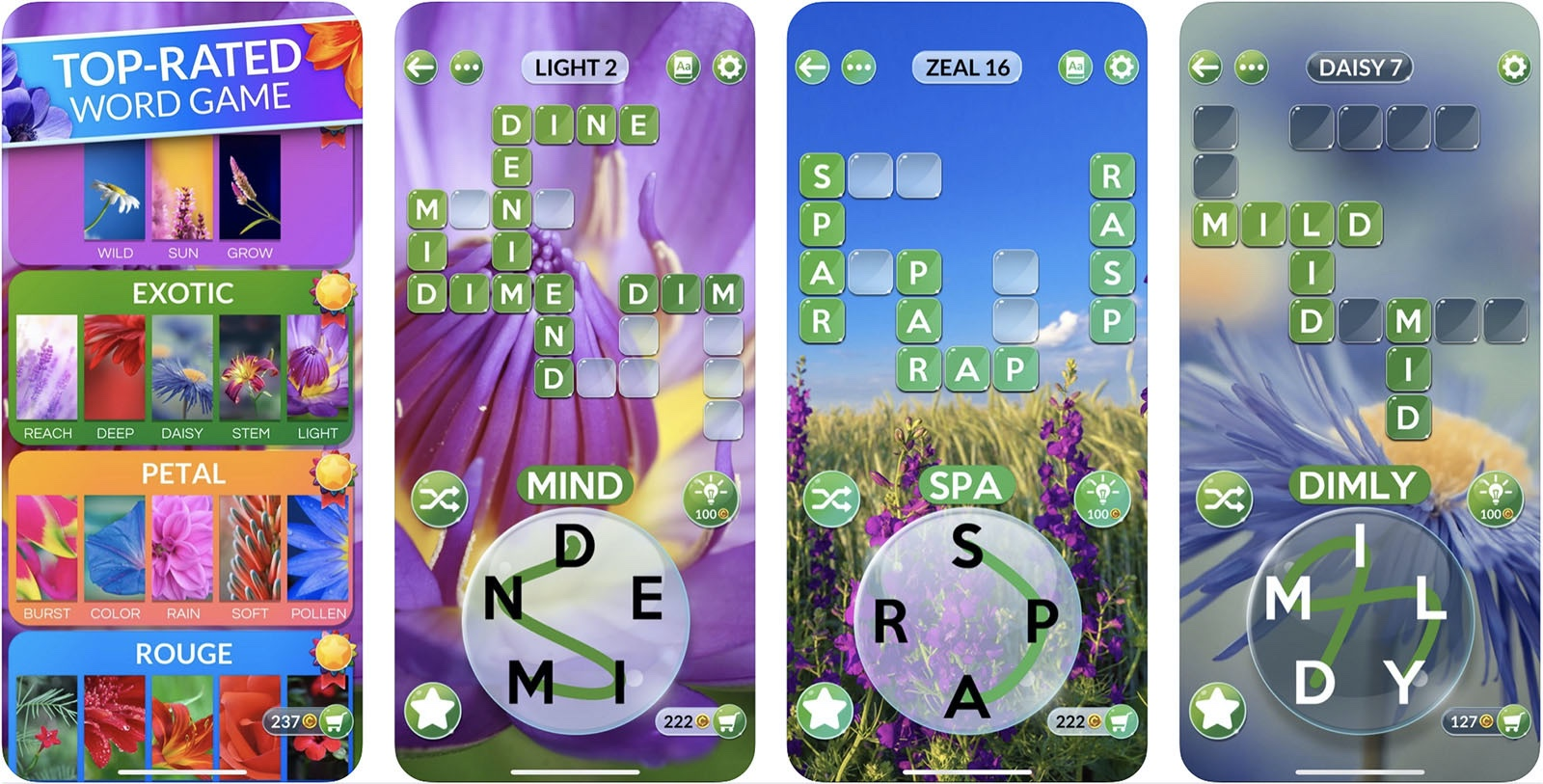 Screenshot of Wordscapes in Bloom