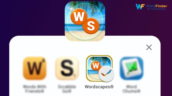 screenshot of WordScapes icon mobile