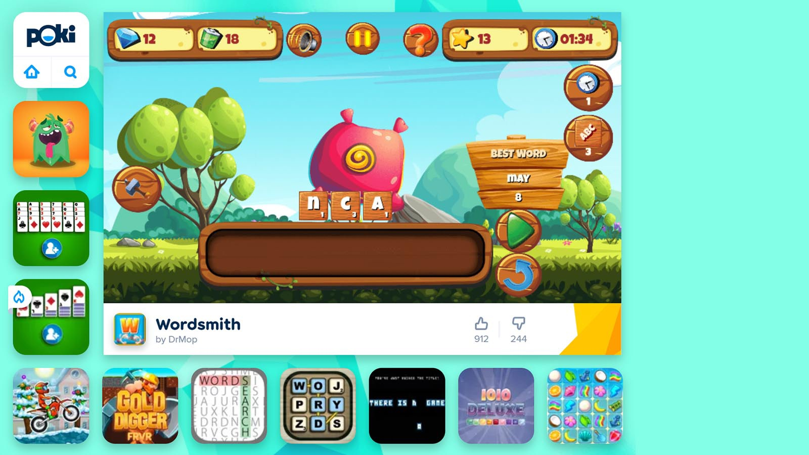 online Wordsmith game for kids