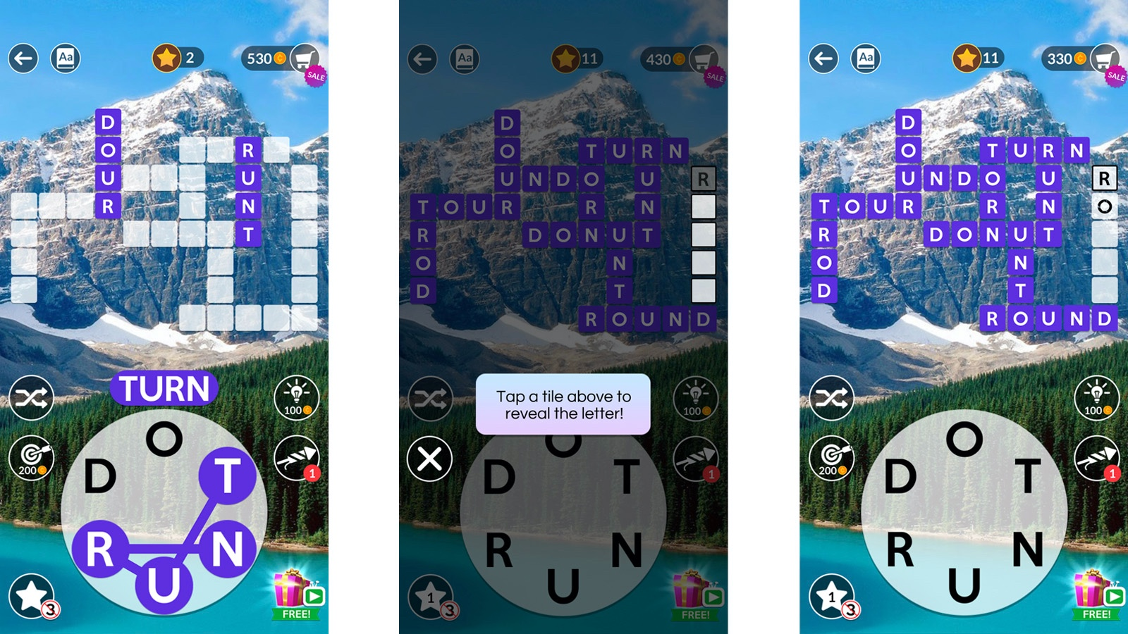 Wordscapes game play instructions
