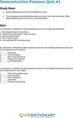 Demonstrative Pronoun Quiz