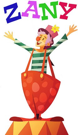 A clown named Zany as Descriptive Words that Begin With the Letter Z