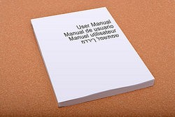 User manual as tips on writing user manuals