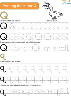 Words That Start With Q For Kids