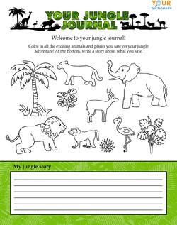 jungle journal worksheet
