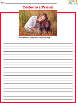 Letter to a Friend Writing Prompt