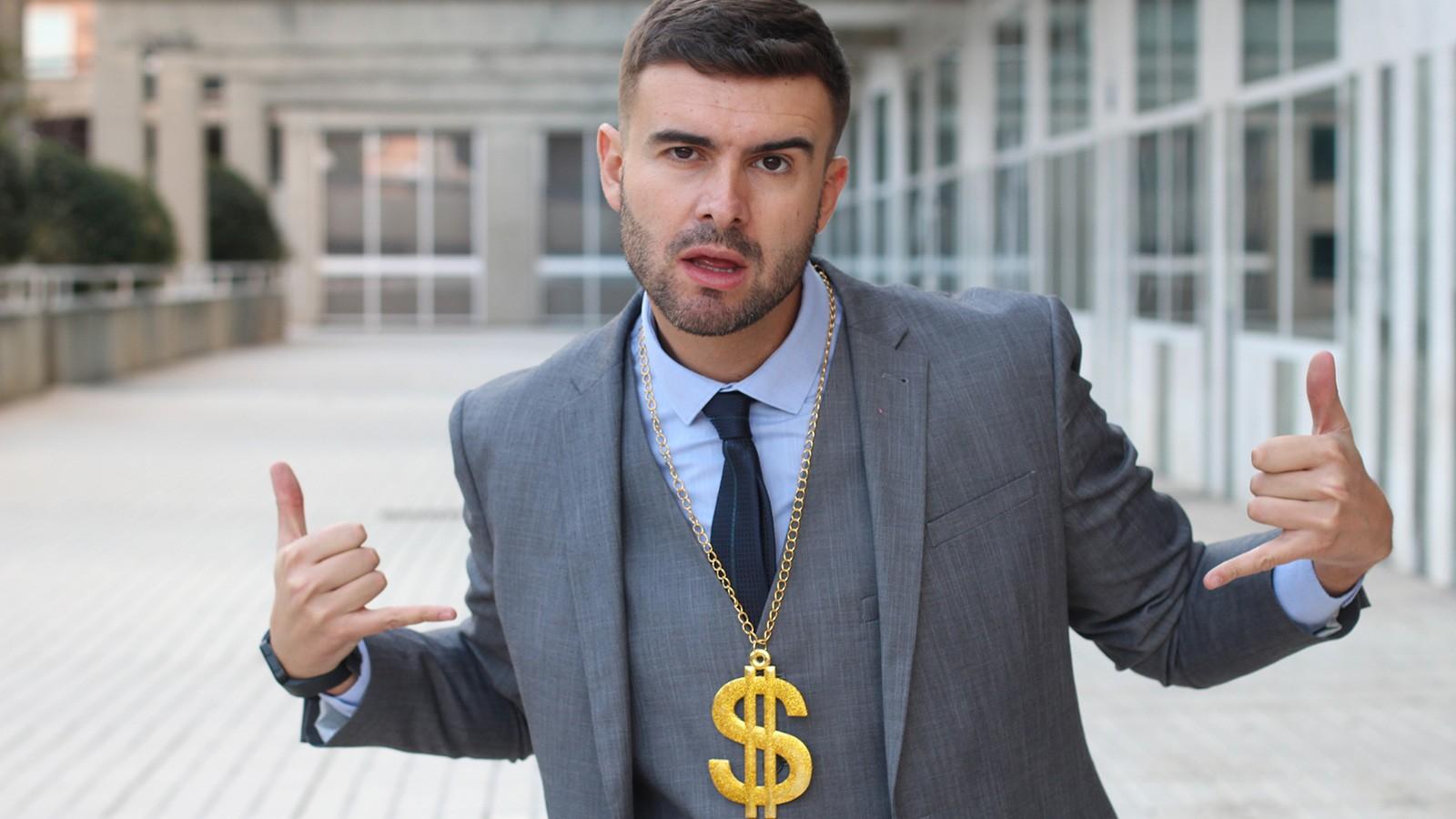 arrogant overconfident businessman