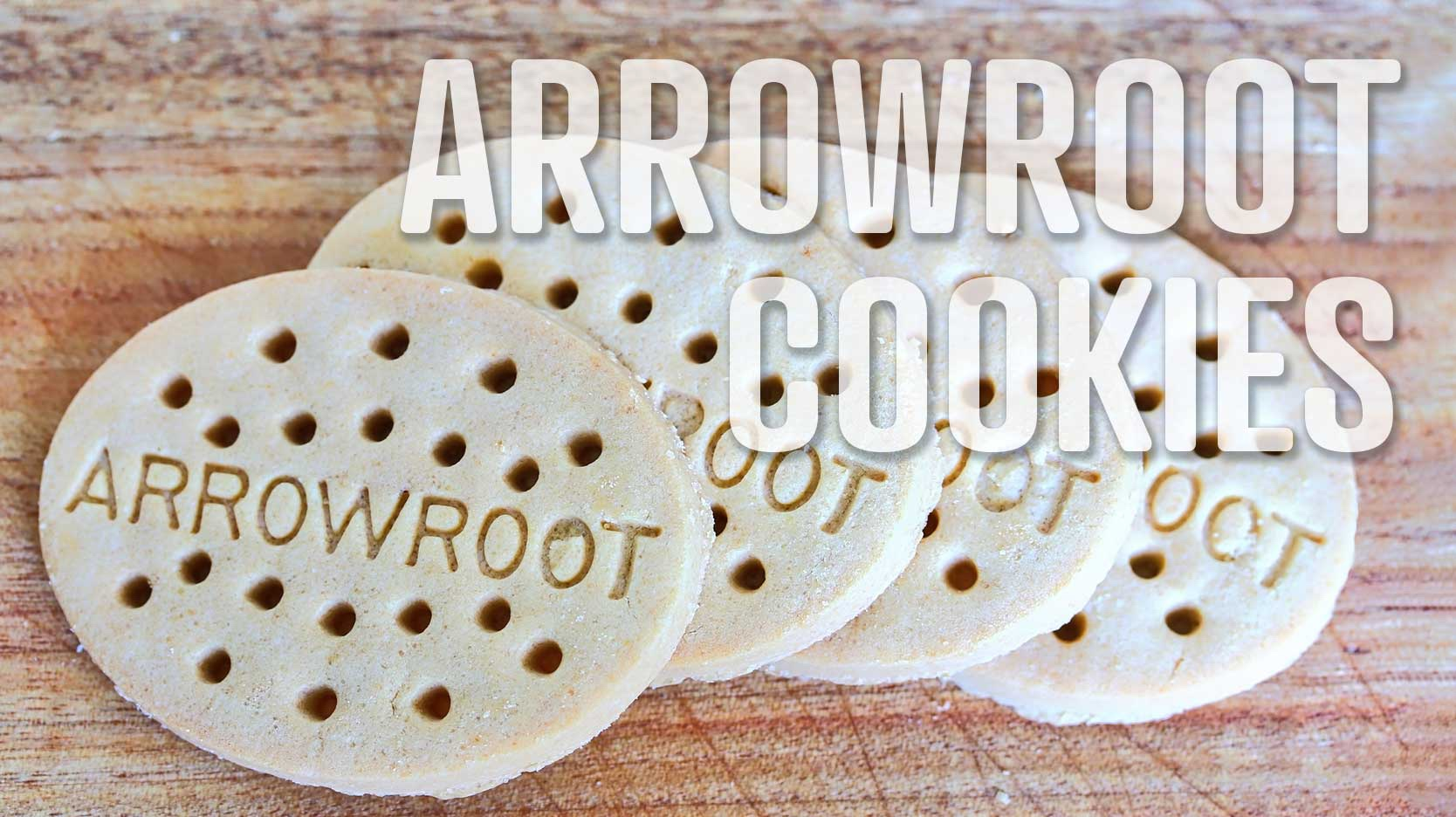 arrowroot cookies a food word