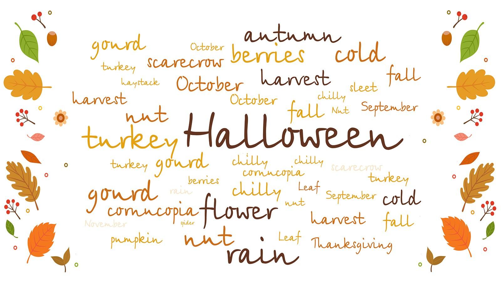 List of Autumn Words
