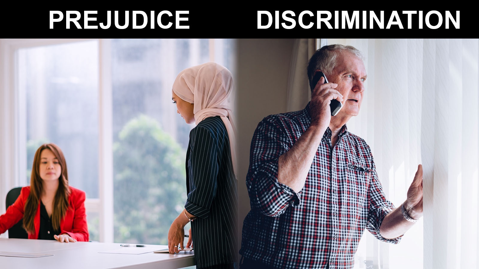 difference between prejudice and discrimination
