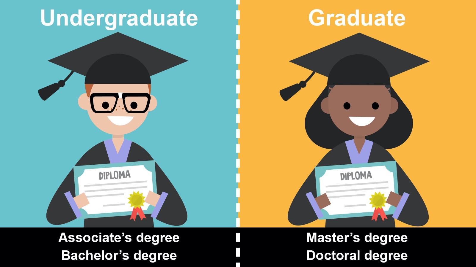 difference between undergraduate and graduate