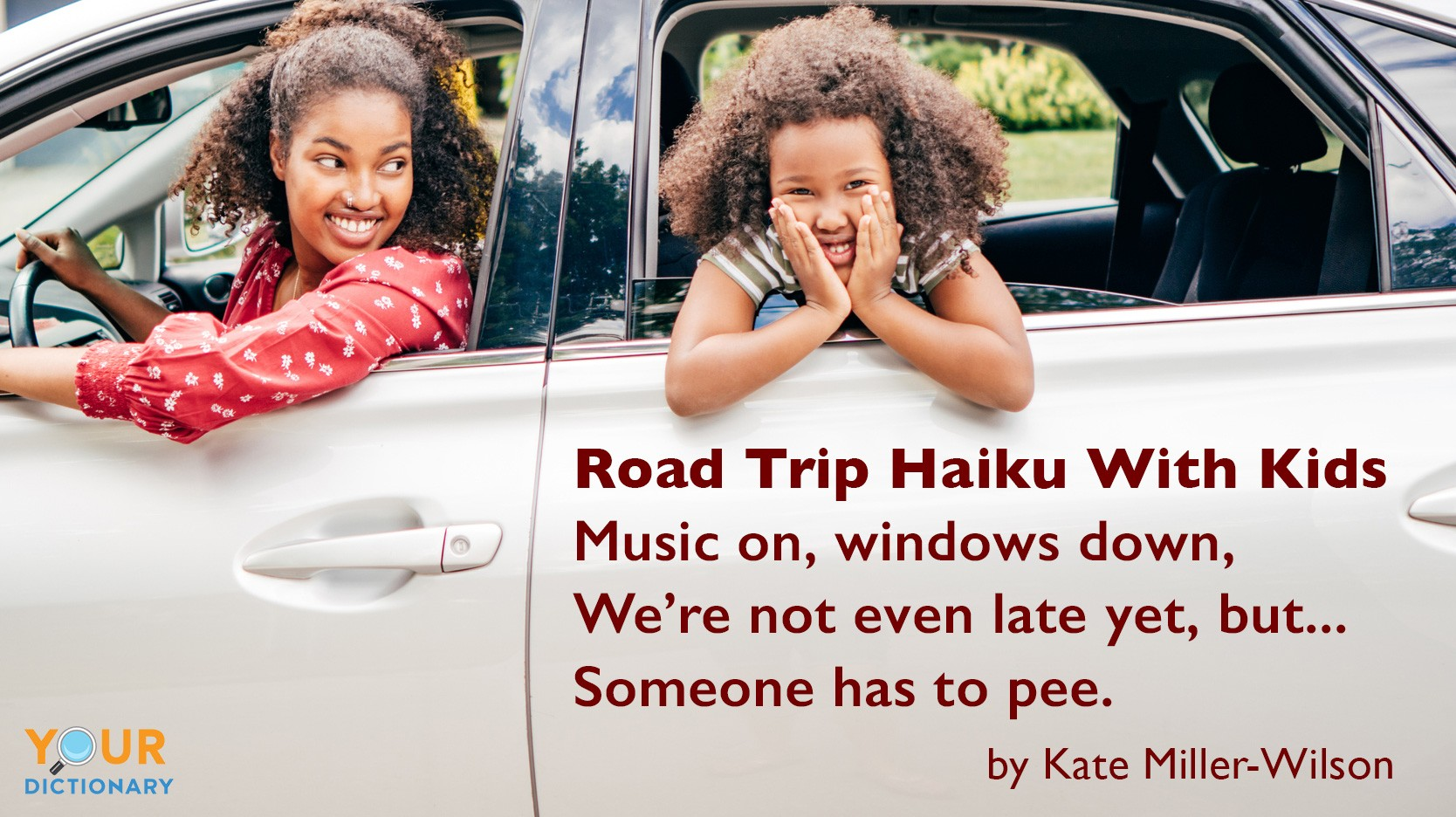 funny haiku poem for road trip with kids