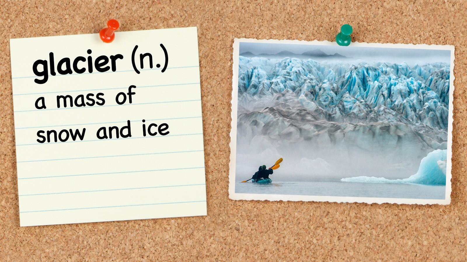 4th grade vocabulary word glacier