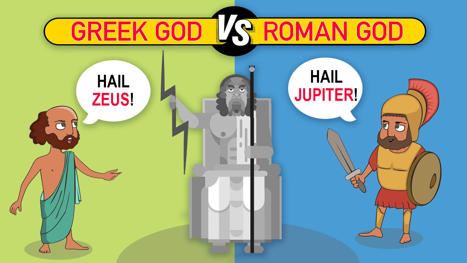 greek vs roman god example
