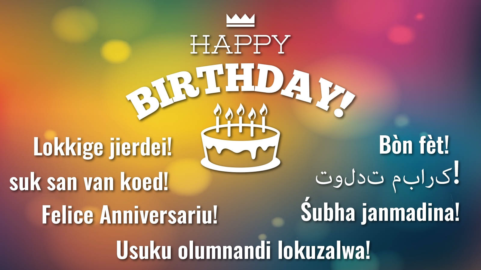 Happy Birthday in languages around world