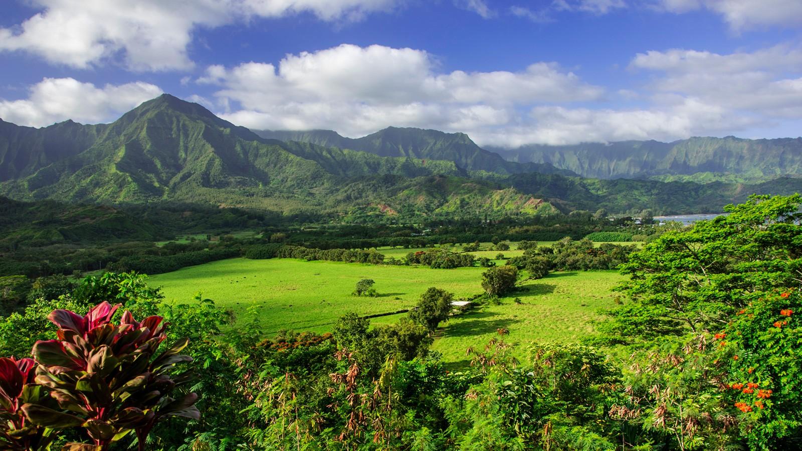 hawaiian mountains on kauai