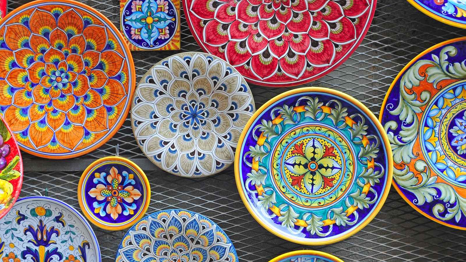 Italian folk art pottery bowls