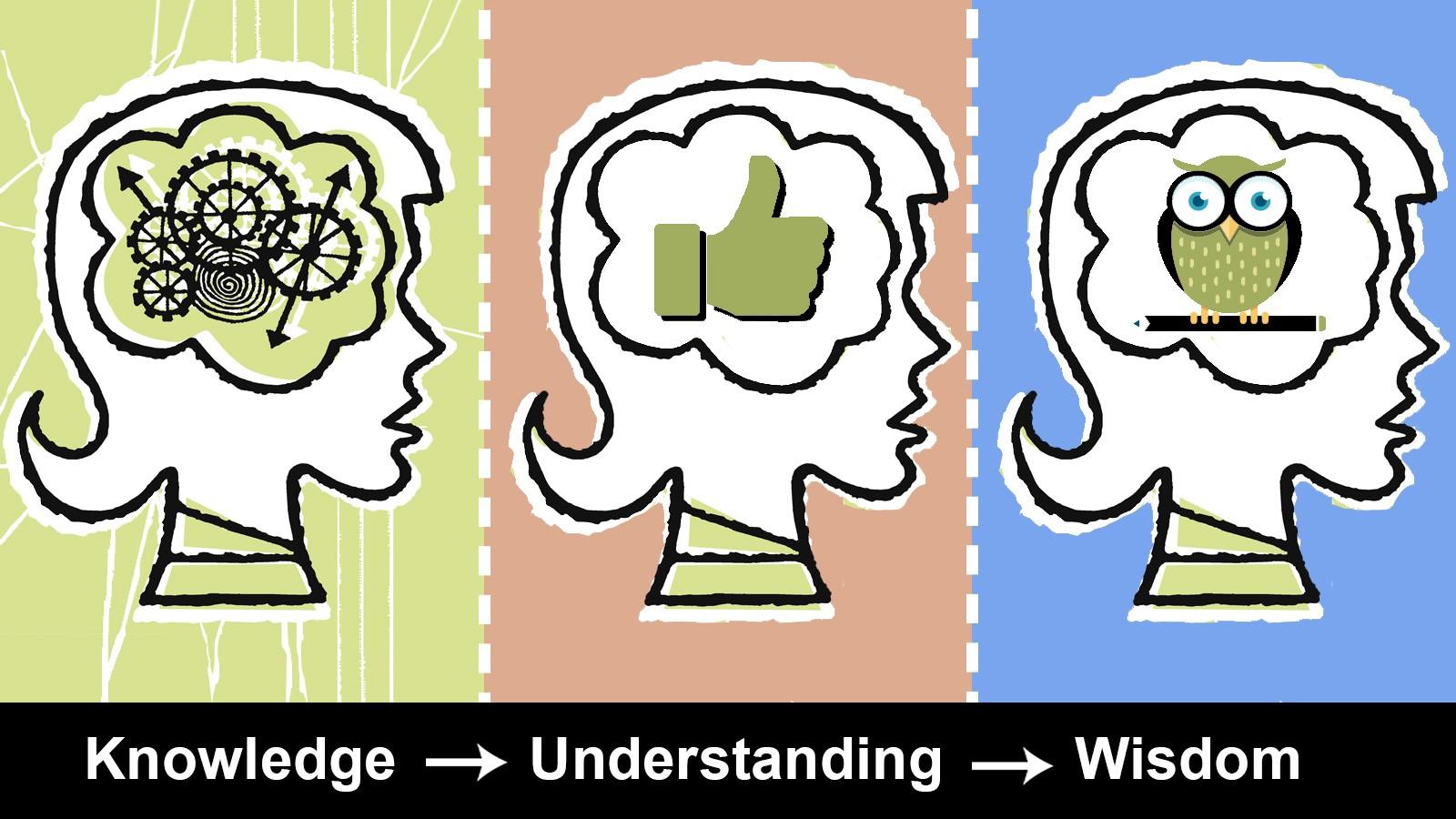 knowledge to understanding to wisdom
