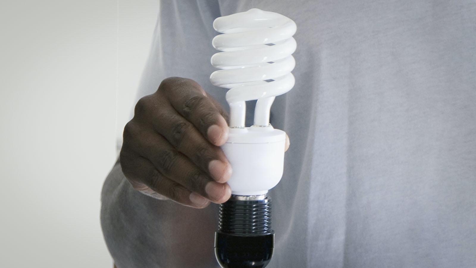 Screw Simple Machine Example lightbulb