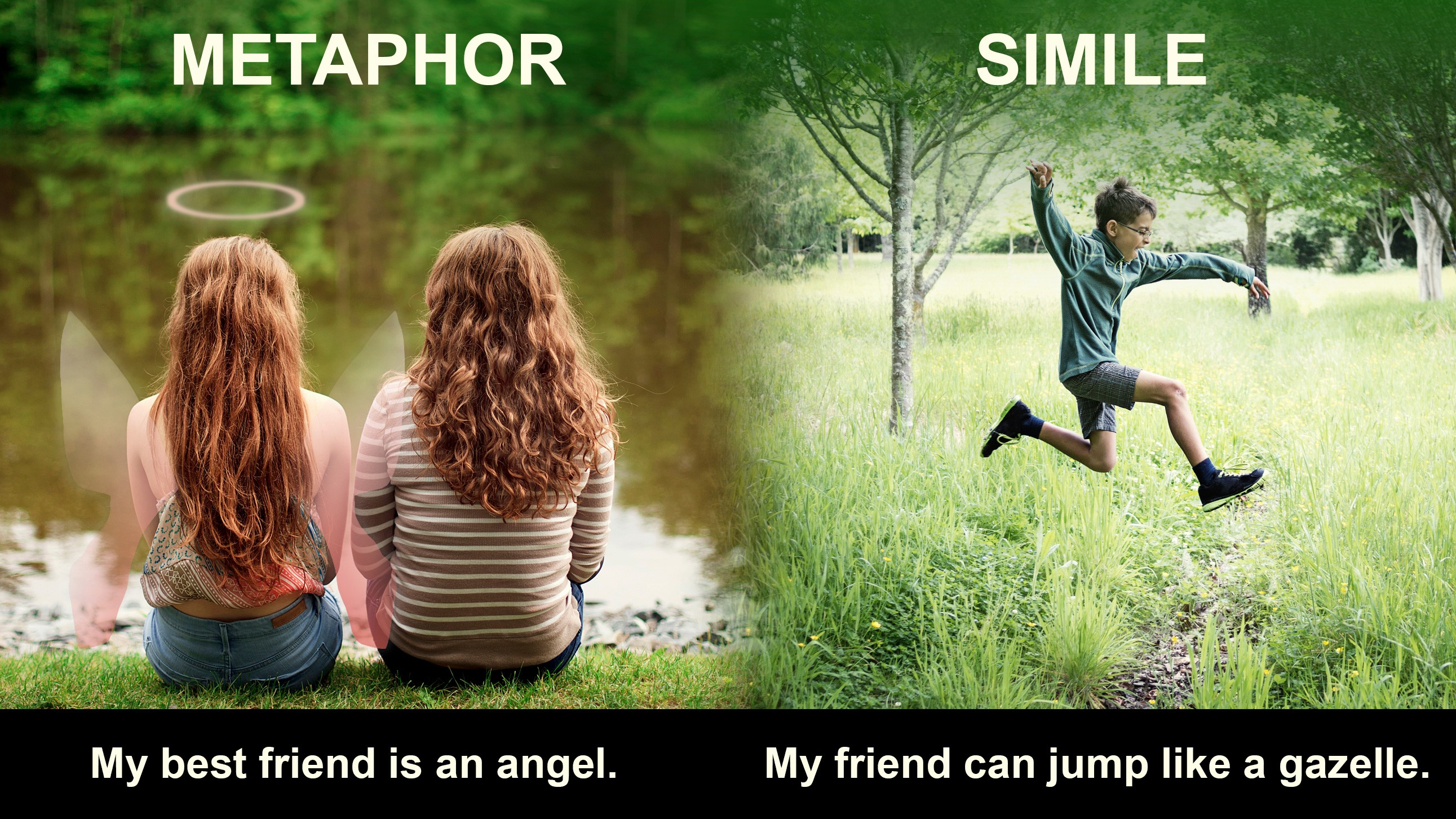 difference between metaphor and simile example