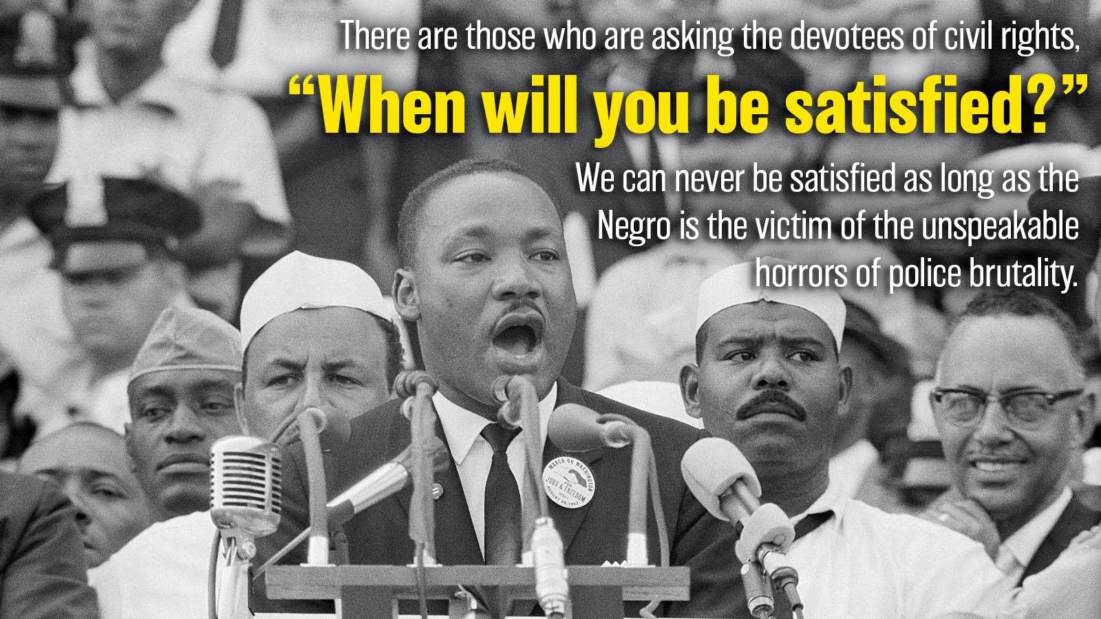 MLK I have a dream 1963 hypophora statement
