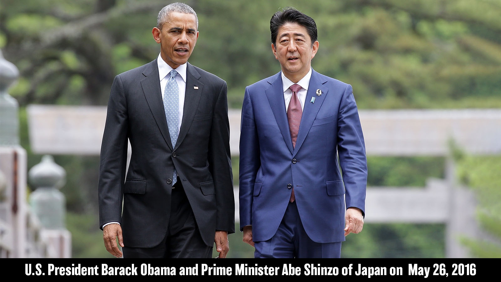 U.S. President Barack Obama and Prime Minister Abe Shinzo of Japan