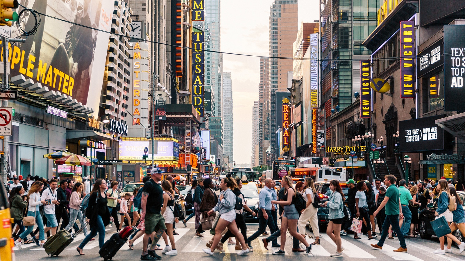 crowd of people in New York city