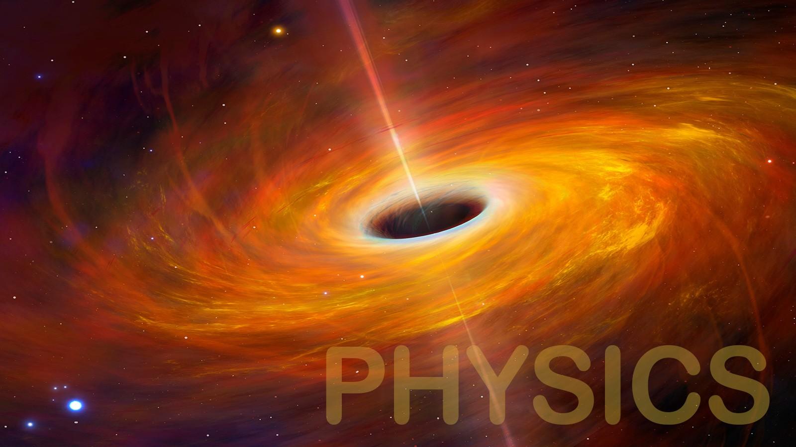 black hole example of physics