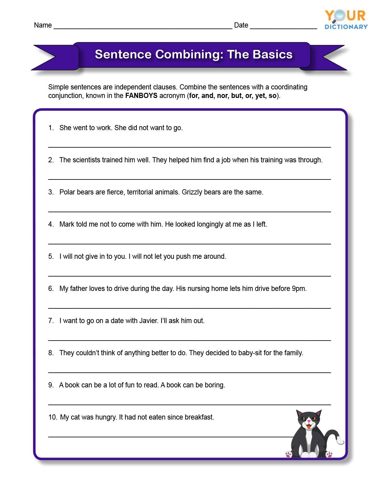 the basics of sentence combining