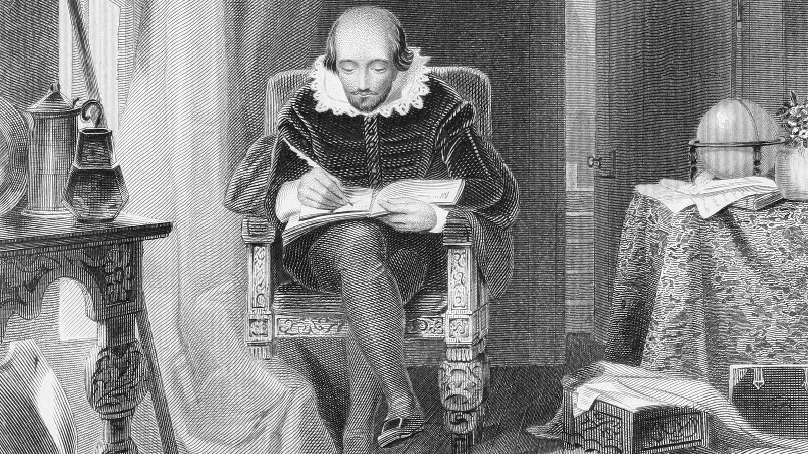 Shakespeare writing poetry sonnet