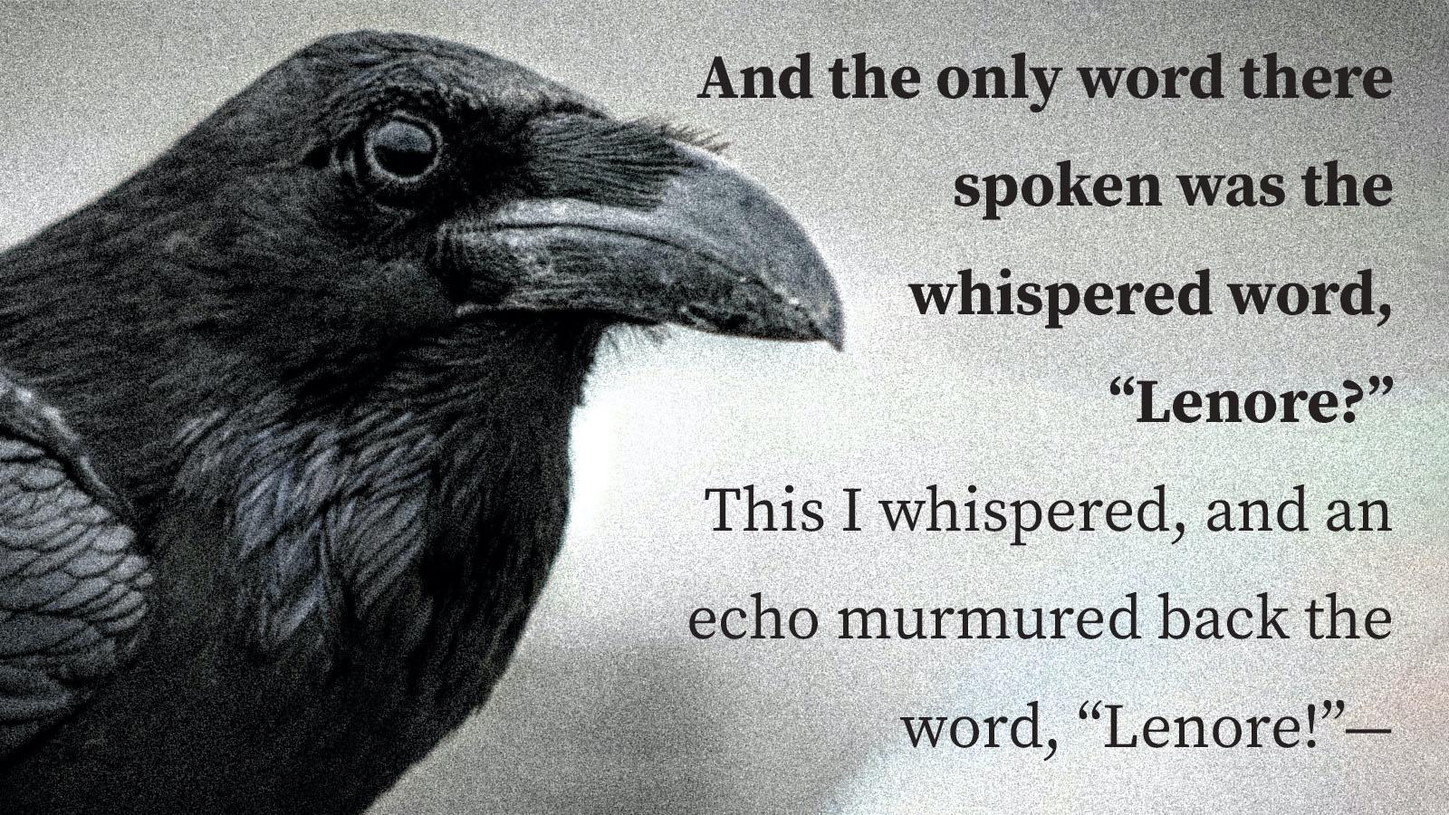 the raven poem anastrophe
