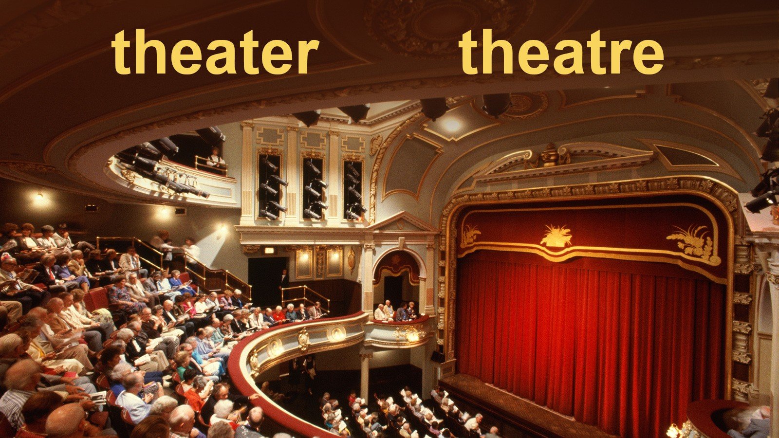 spelling of american theater and british theatre