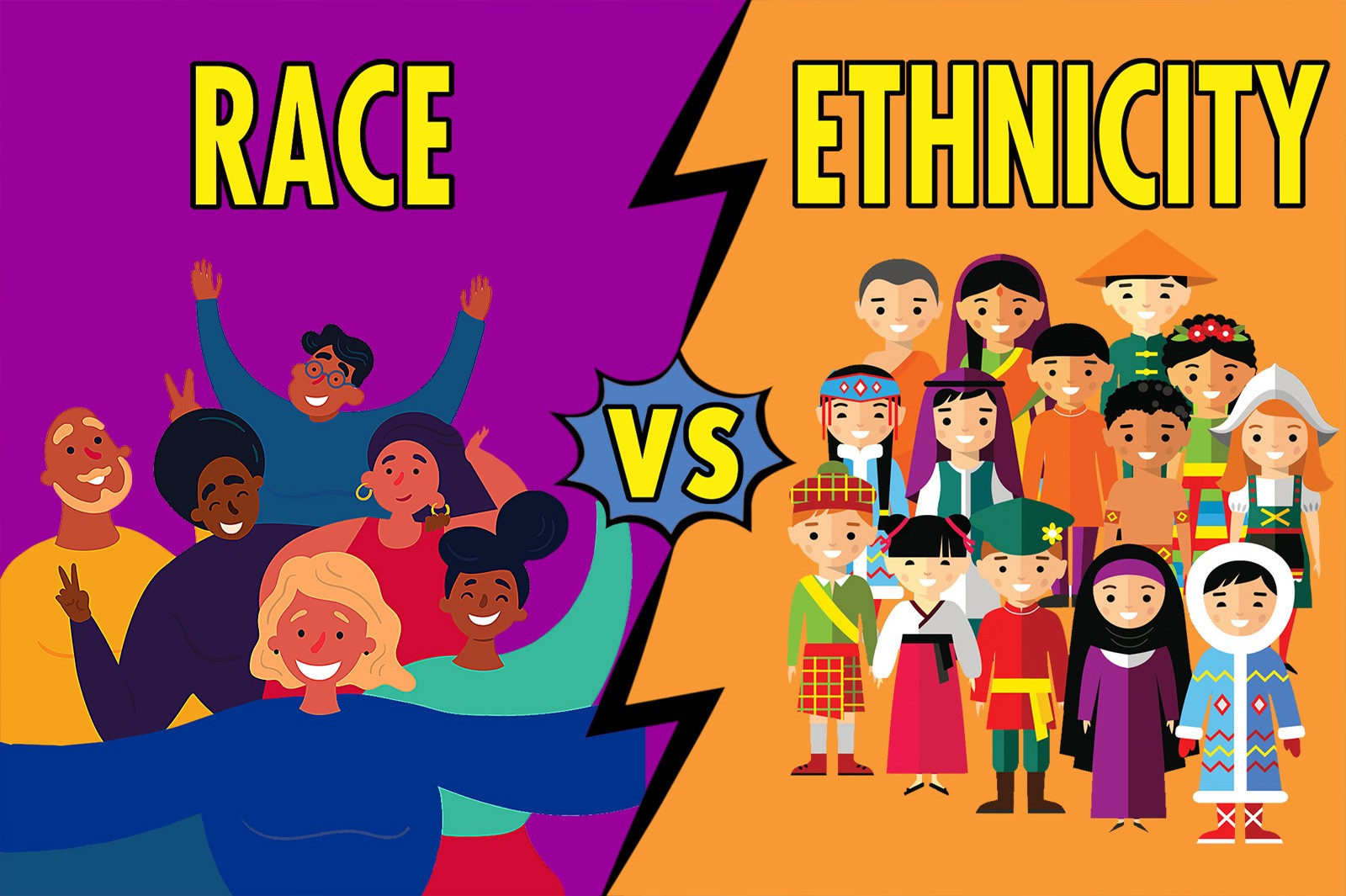 use of race vs ethnicity