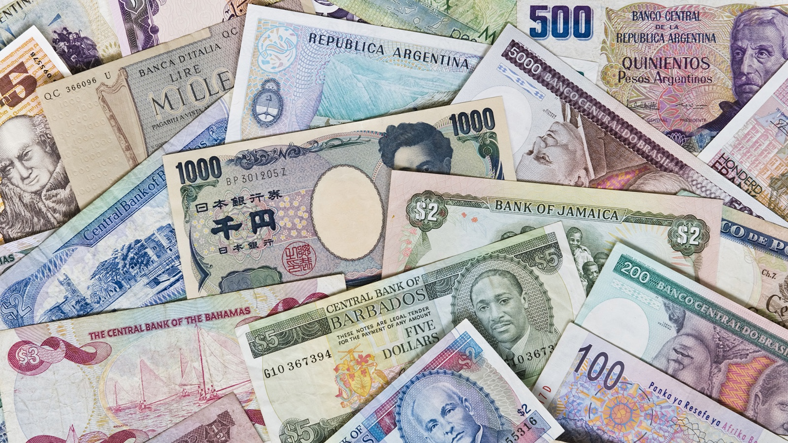 Money from various countries