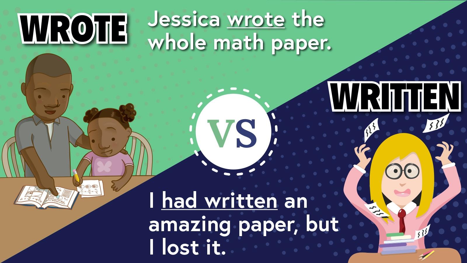 Wrote vs Written Example