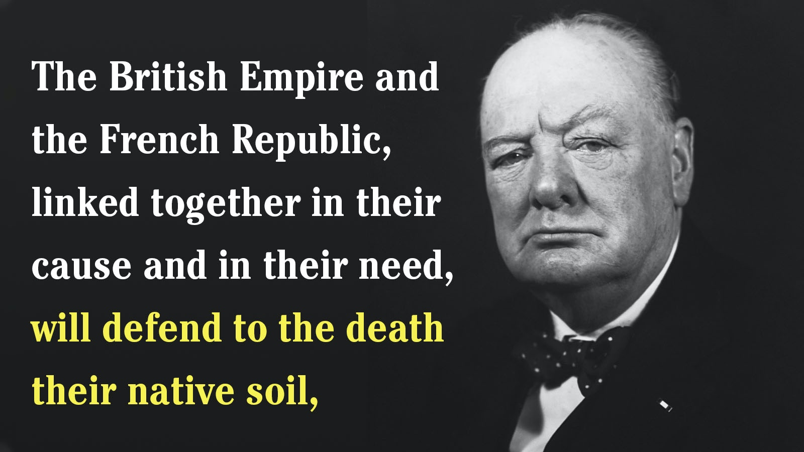Winston Churchill anastrophe example