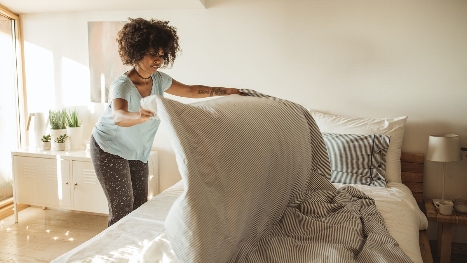 Intrinsic Motivation Person Making Bed