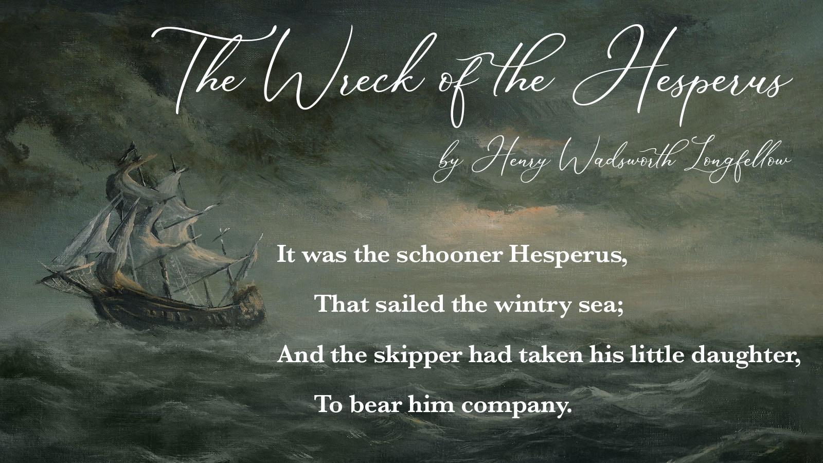 quatrain example The Wreck of the Hesperus