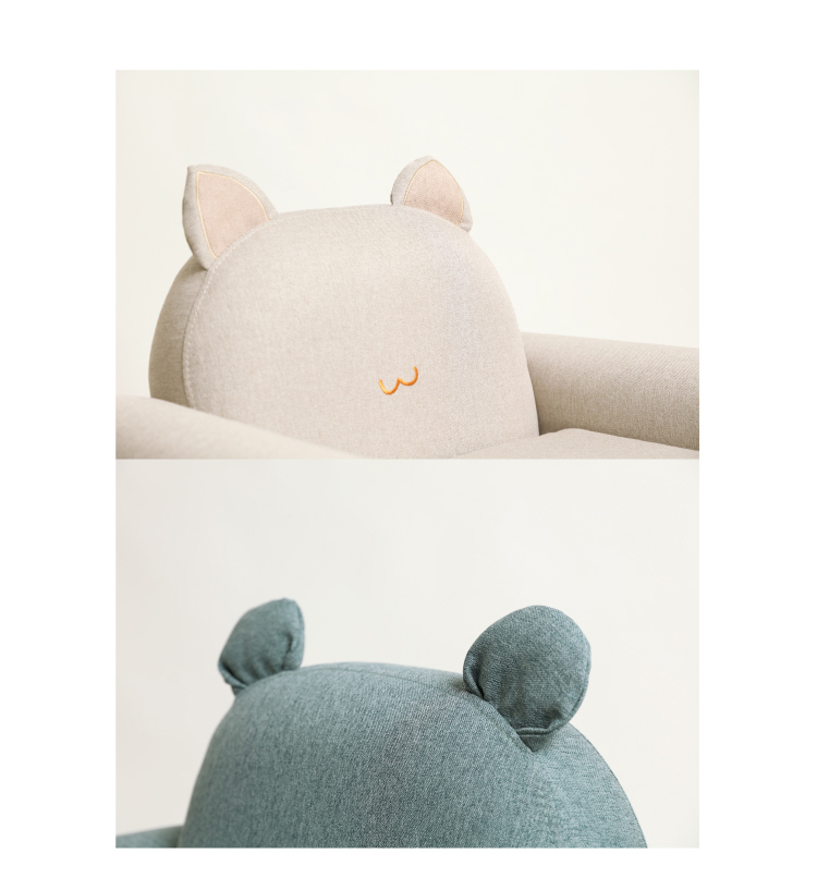 兒童動物沙發為棉麻布料製作