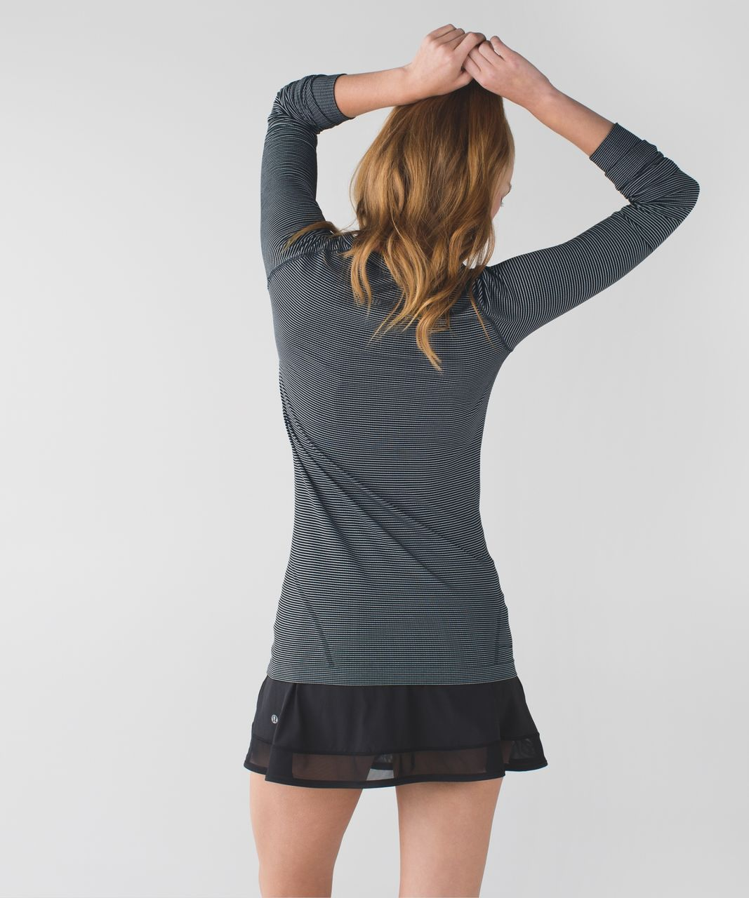 Lululemon Swiftly Tech Long Sleeve Crew - Tempo Stripe Black White