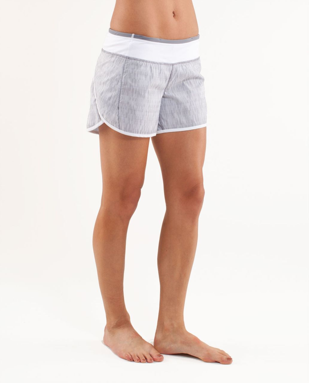 Lululemon Turbo Run Short - Wee Are From Space White Combo /  White /  Heathered Fossil