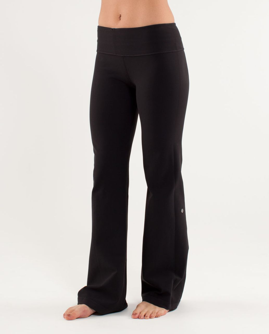 Lululemon Groove Pant (Tall) - Black / Blurred Blossoms Multi Colour / Heathered Fossil
