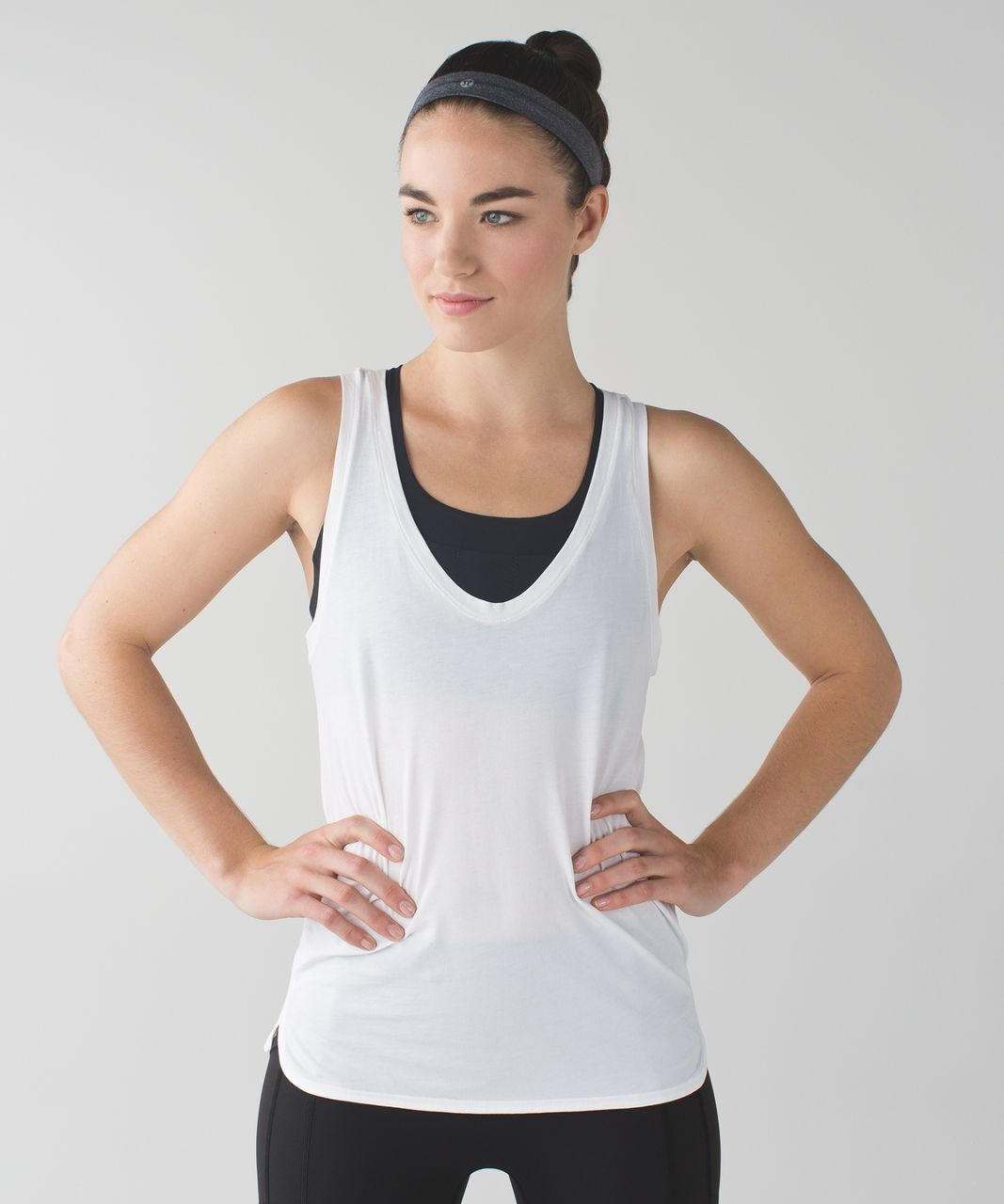 Lululemon Cardio Cross Trainer Headband - Heathered Black