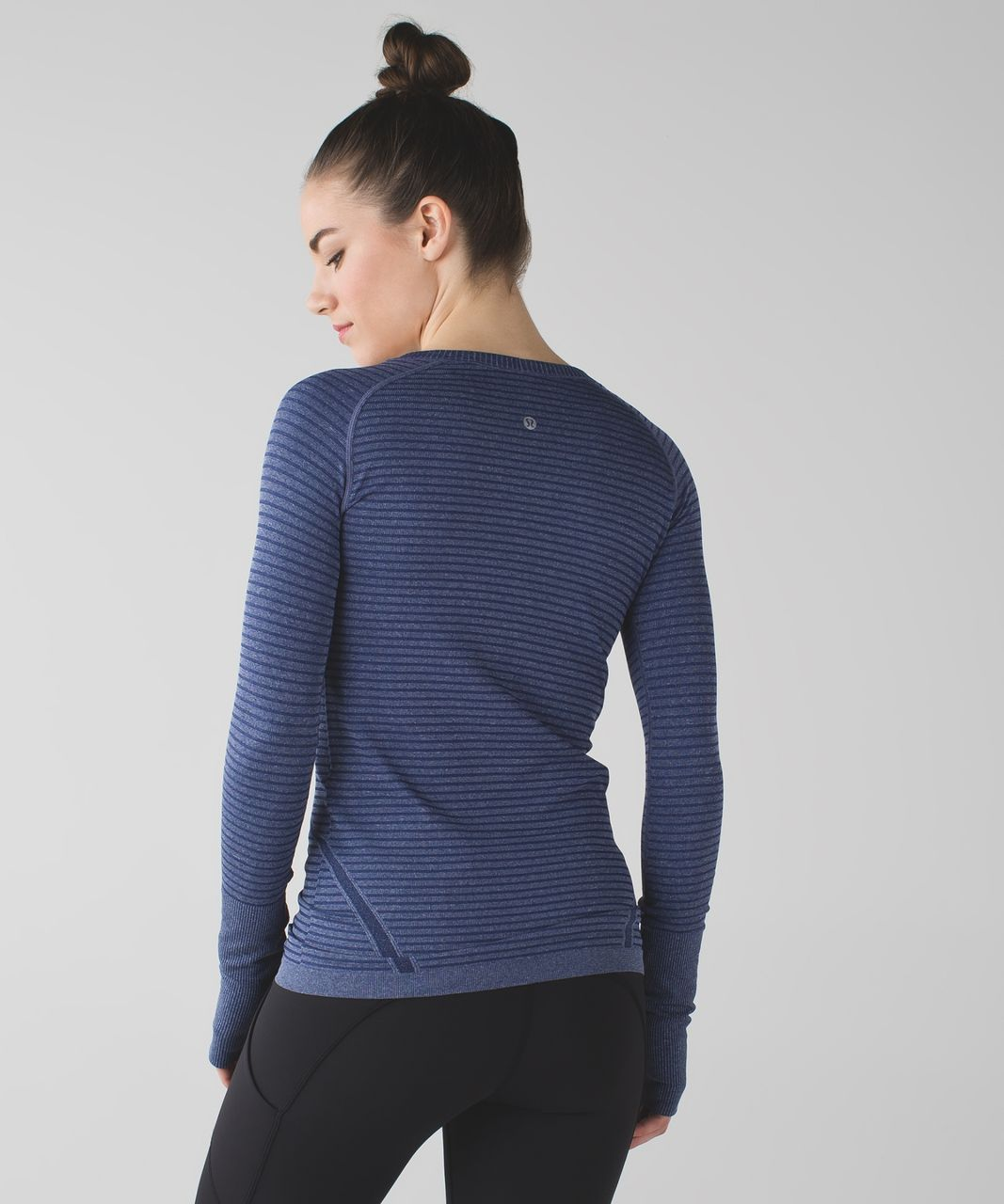 Lululemon Swiftly Tech Long Sleeve Crew - Heathered Hero Blue