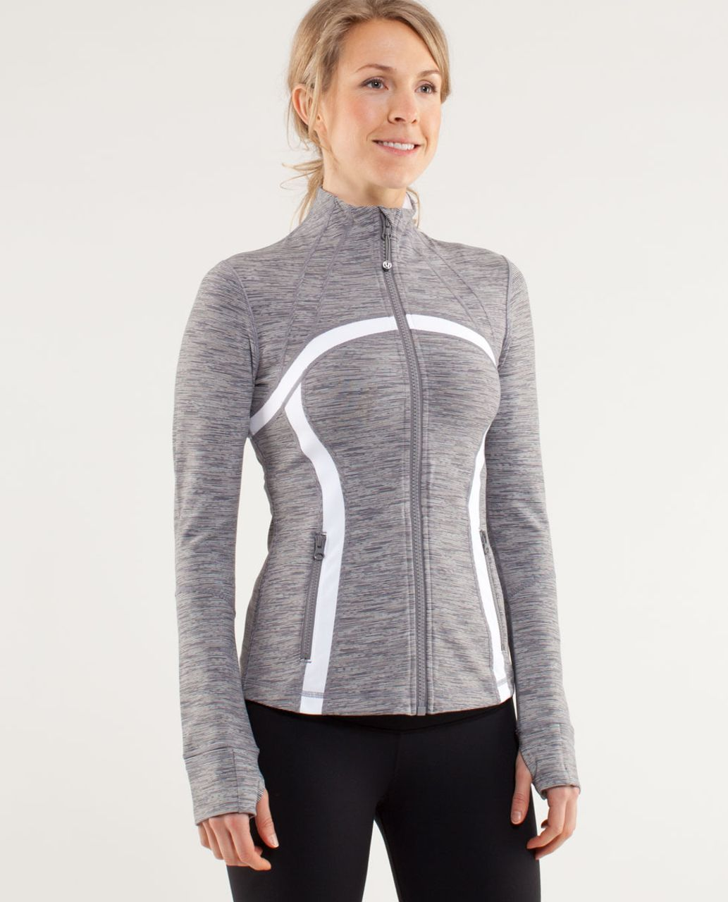 Lululemon Define Jacket - Wee Are From Space Coal Fossil /  White