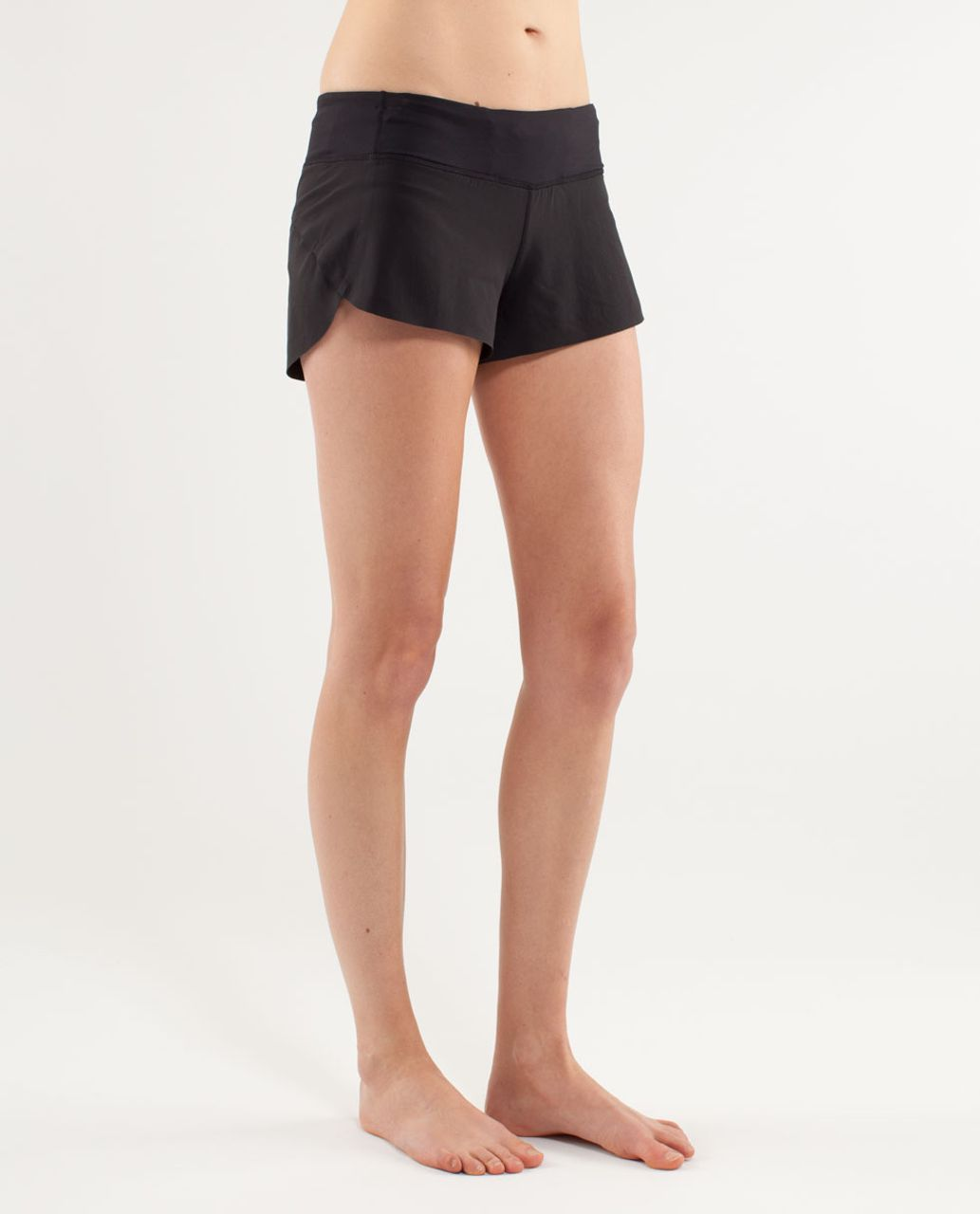 Lululemon Run:  Speed Short *Naked Seam - Black