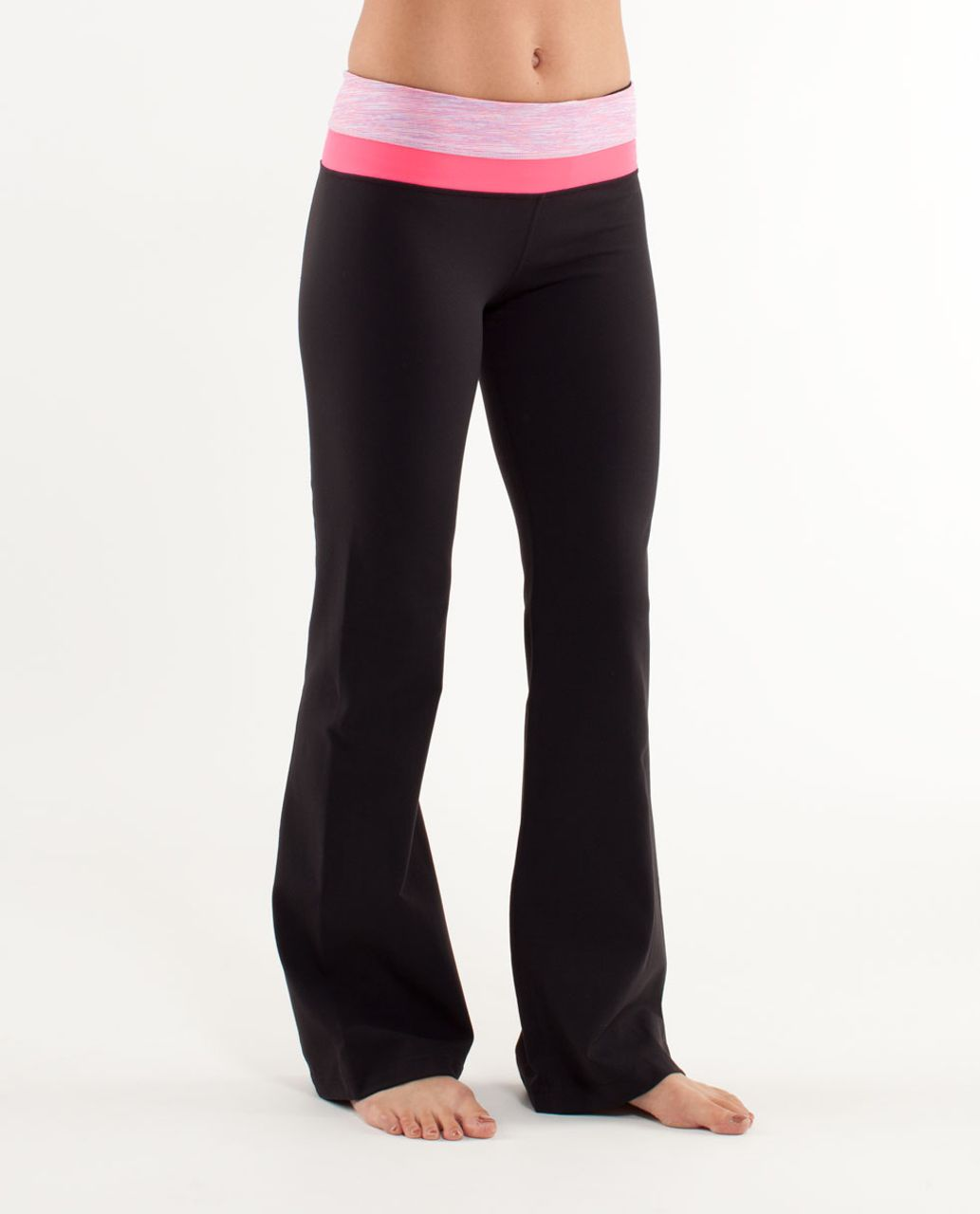 Lululemon Groove Pant (Regular) - Black /  Wee Are From Space White April Multi /  Flash