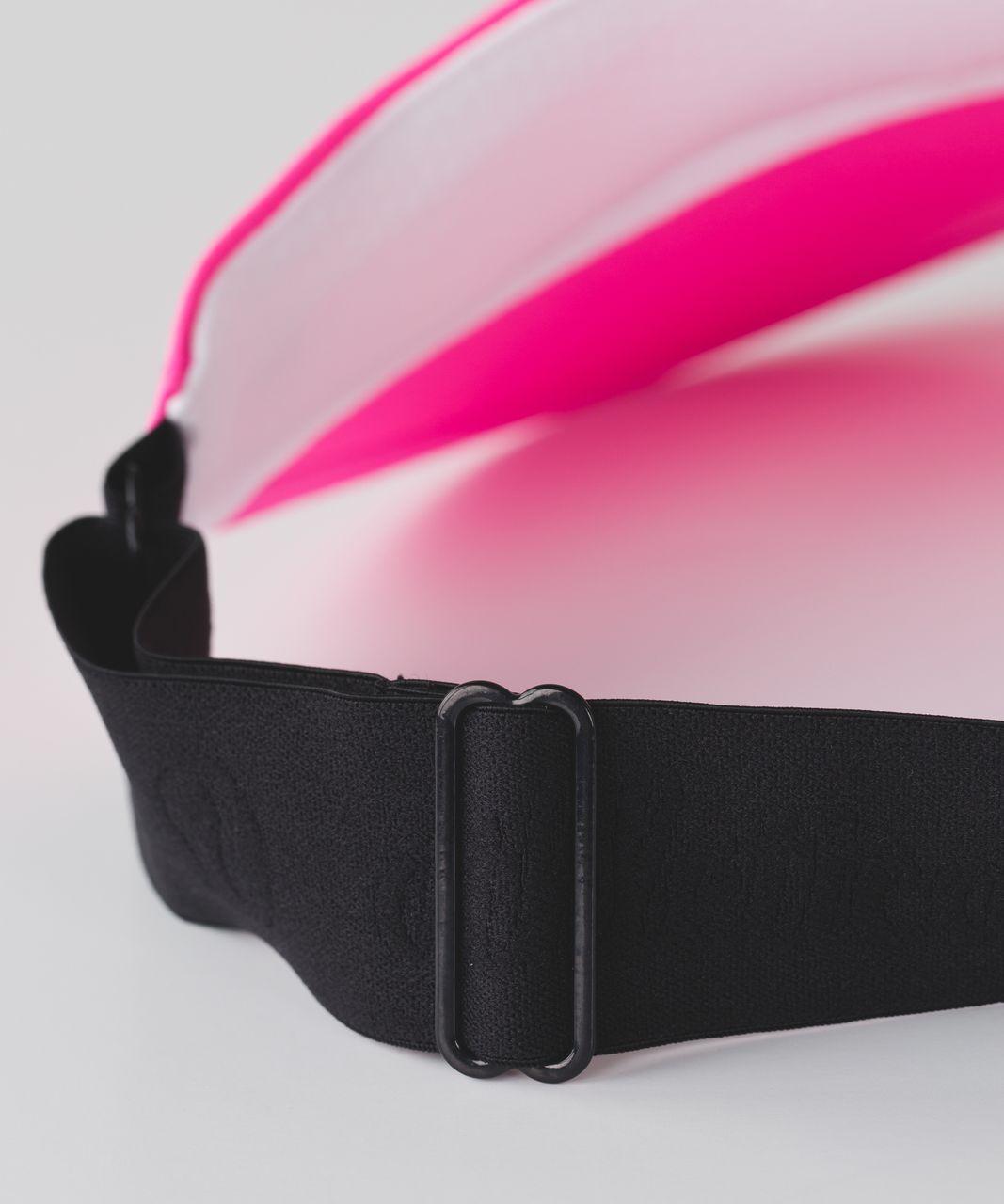 Lululemon Fast Paced Run Visor - Raspberry Glo Light / Black