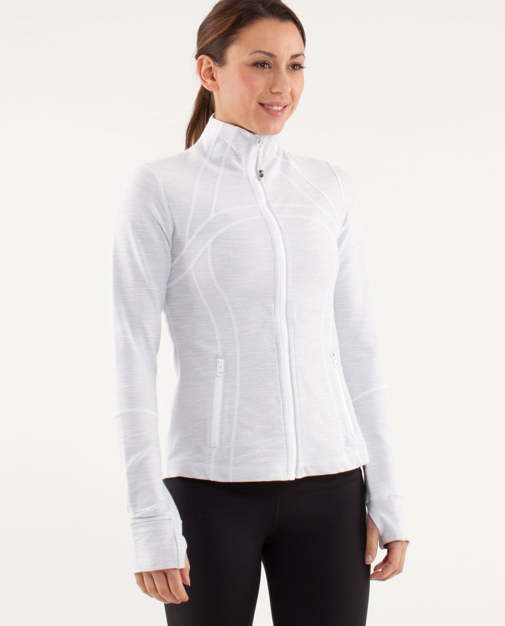 Lululemon Define Jacket *Denim - White /  Silver